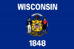 Wisconsin State Large Flag - 5' x 3'.